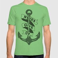 Anchor Mens Fitted Tee Grass SMALL