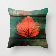 Rusty Red Dried Fall Lea… Throw Pillow