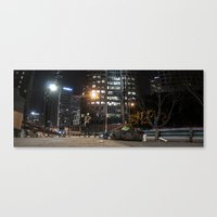 Homeless On 6th Canvas Print