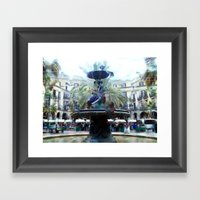 Square, Fountain, Wing B… Framed Art Print