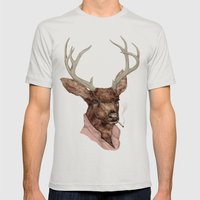 Charlie Mens Fitted Tee Silver SMALL