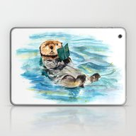 Laptop & iPad Skin featuring Otter by Anna Shell
