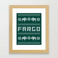 Fargo Sweater Framed Art Print