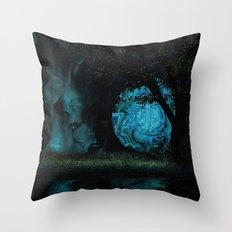 Blue Moon 1 Throw Pillow