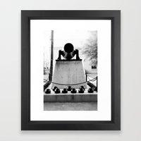 Staring down the barrel... Framed Art Print