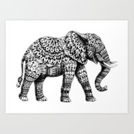 Art Print featuring Ornate Elephant 3.0 by BIOWORKZ