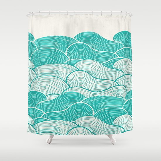 The Calm and Stormy Seas Shower Curtain