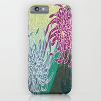 iPhone & iPod Case featuring chrysanthemums  by morals
