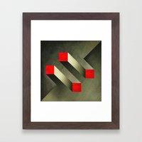 Optical Illusion Framed Art Print