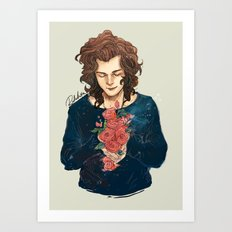 Roses on Your Hands Art Print