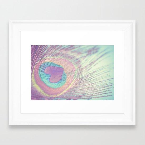 I Heart Peacocks Framed Art Print