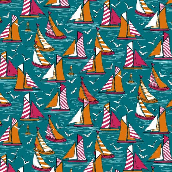 seagulls and sails bold Art Print