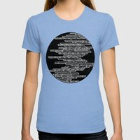 Unfinished DS Womens Fitted Tee Tri-Blue SMALL
