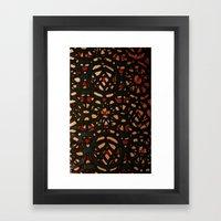 It's a pattern Framed Art Print