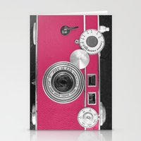 Pink Fashion Camera Stationery Cards
