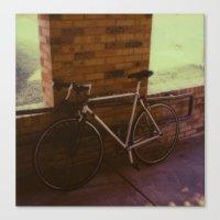 bikes on oak st Canvas Print