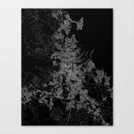 Brisbane Map Australia Canvas Print