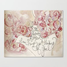 the roses of the lovers Canvas Print