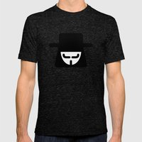 v vendetta Mens Fitted Tee Tri-Black SMALL