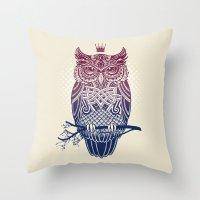 Warbird (Great-horned Ow… Throw Pillow