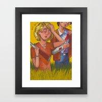 Slow Dog Framed Art Print
