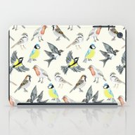 Illustrated Birds iPad Case