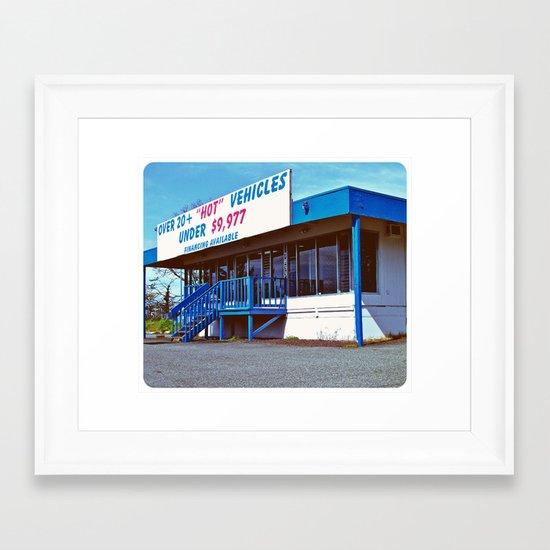 """""""Hot"""" Wheels Framed Art Print"""