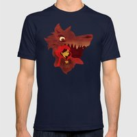 Red Riding Hood Mens Fitted Tee Navy SMALL