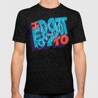 I Forgot to Keep it Simple Mens Fitted Tee Tri-Black SMALL