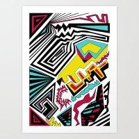 Mind  Hand Art Print