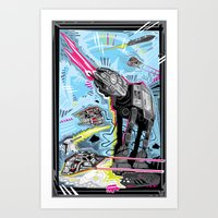 Battle Of Hoth Art Print
