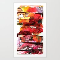 comic strips 3 Art Print