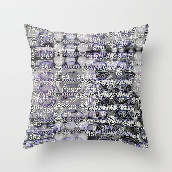 Post-Digital Tendencies Emerge (P/D3 Glitch Collage Studies) Throw Pillow
