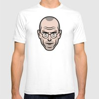 STEVE JOBS Mens Fitted Tee White SMALL