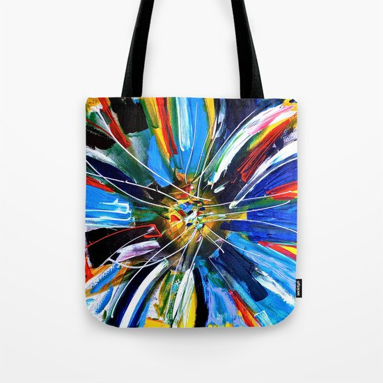 Dutch Spin - Colorful abstract painting flower Tote Bag