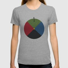 Howl's Moving Castle Womens Fitted Tee Athletic Grey SMALL