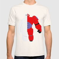 BayMax Mens Fitted Tee Natural SMALL