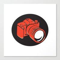 DSLR Digital Camera Fron… Canvas Print