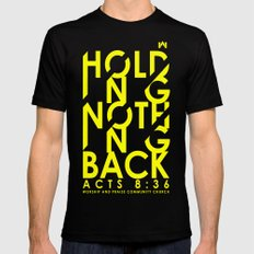 NOTHING HOLDING BACK Mens Fitted Tee Black SMALL