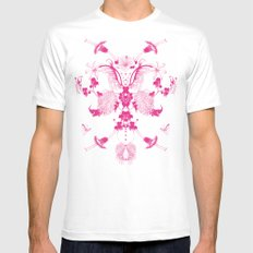 flowers#11 SMALL White Mens Fitted Tee