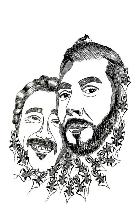 Stèphane & Sèbastien Art Print
