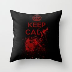 Keep calm? Throw Pillow