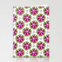 Watermelon Pieces Stationery Cards
