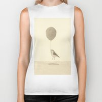 Bird With A Balloon Biker Tank