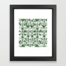 Green Pattern Framed Art Print