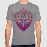 Hylian Victoriana Mens Fitted Tee Tri-Grey SMALL