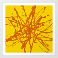 Bloom Yellow Art Print