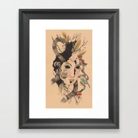 Forest Nymph Framed Art Print