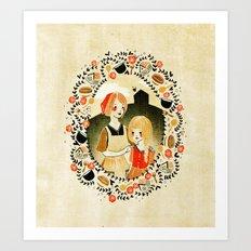 Sweet Porridge: Mother and Daughter Art Print