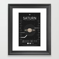 OMG SPACE: Saturn 1970 - 2000 Framed Art Print